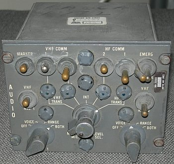 United Airlines audio control box