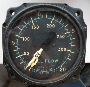 Eclipse-Pioneer Division Bendix Aviation Corp. dual engine indicator fuel flow USAF