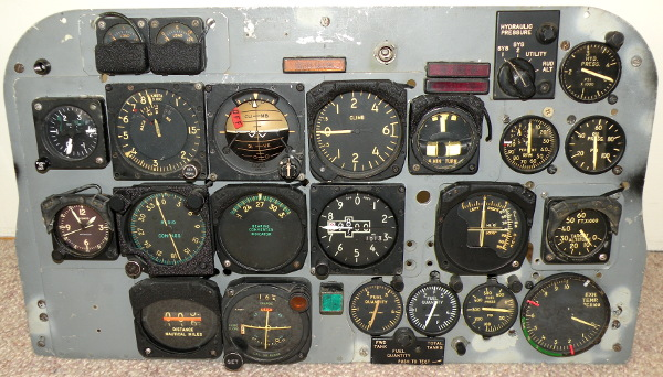 F-100F rear cockpit instrument panel
