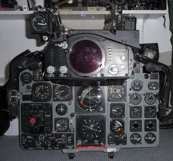 RAF F-4M Phantom front cockpit instrument panels
