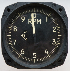 General Electric indicator tachometer, sensitive, electric