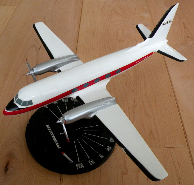 Vintage Precise Models Inc. Grumman Gulfstream I business turboprop model