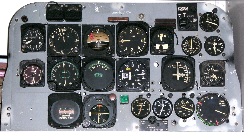 North American F-100F Super Sabre aircraft cockpit rear