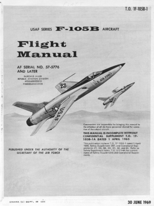 republic aviation corporation f 105 thunderchief thud instrument rh aviation watergeek eu airplane flight manual da 40 ng airplane flight manual supplement