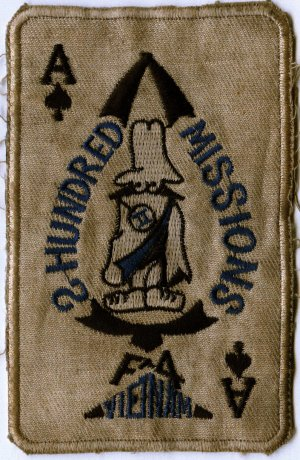 2-hundred missions patch F-4 Phantom Night Owl missions in Vietnam
