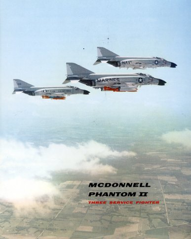 Different F-4 versions on cover page promotional brochure
