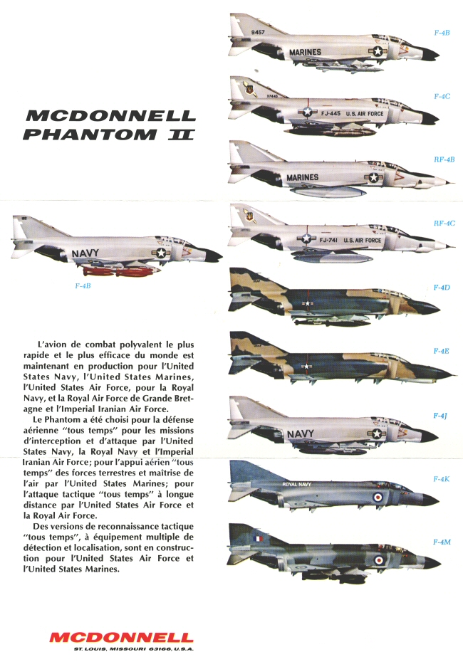 Different F-4 versions