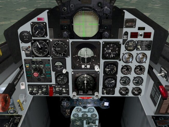 Strike Eagle's F-4B cockpit