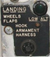 Landing check list data plate