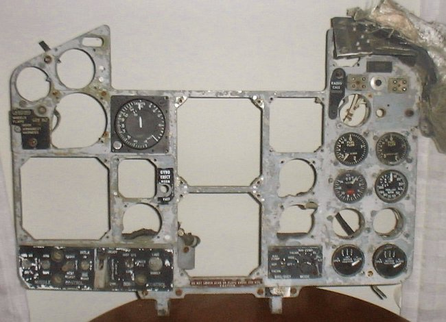 F-4B main panel before restoration