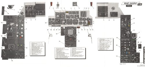 F-4D rear cockpit instrument panel layout