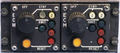 F-4E rear cockpit ECM panel