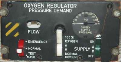 F-4E Oxygen Regulator pressure Demand control box