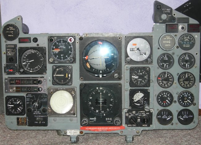 Pierre's RF-4C main pilot's panel