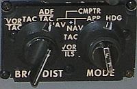 Collins Radio Co. mode selector control C-10311/A
