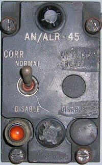 AN/ALR-45 Antenna Correlation Disable panel.