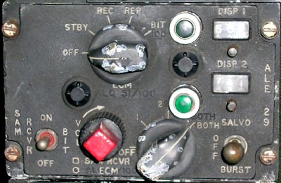 AN/ALE-29 ECM control panel