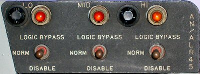 Band Disable panel.