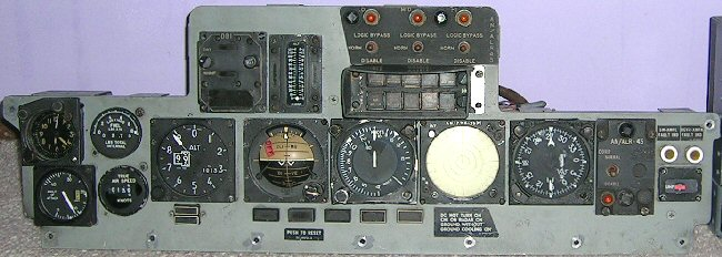 Front view of F-4J rear panel