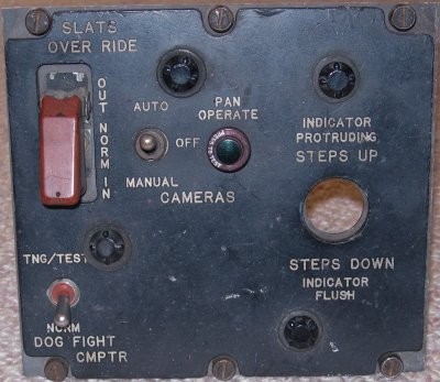 Auxiliary armament control panel