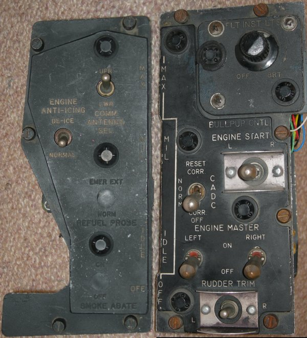 F-4S engine control panels