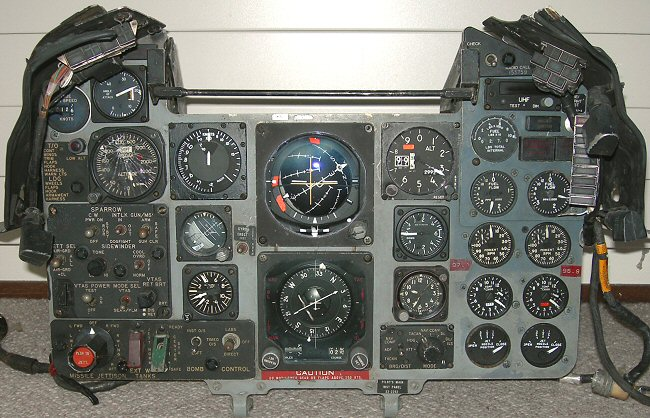 F-4S main pilot's cockpit instrument panel