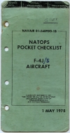 NAVAIR 01-245FDD-18 NATOPS Pocket Checlist F-4J Aircraft