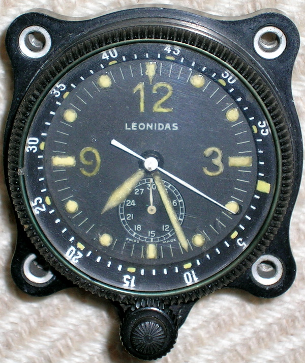 Leonidas aircraft chronometer clock