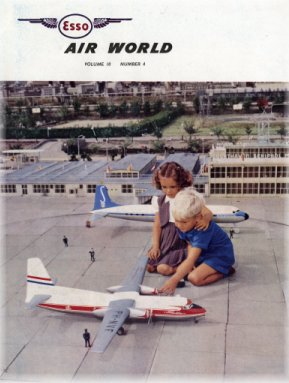 Cover of Esso Air World 10(4), 1958