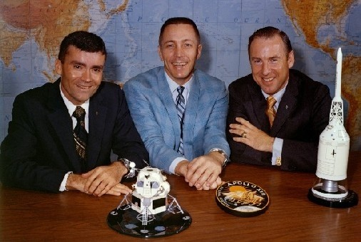 Apollo 13 crew with models from Precise Models