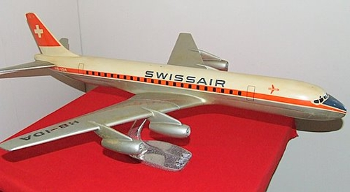 Swissair DC-8, made by Raise-Up Metalworks