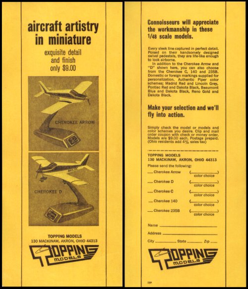 Flyer for Topping Cessna models