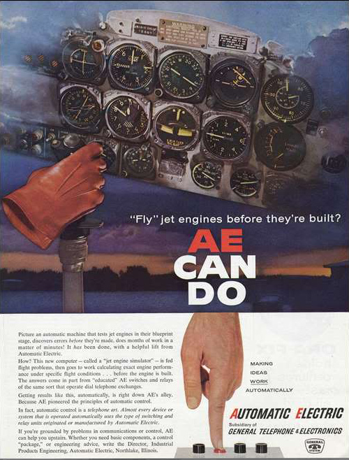T-33 instrument panel in magazine advertisement