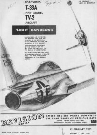 T-33A and TV-2 flight manual cover page