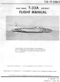 T-33A flight manual cover page