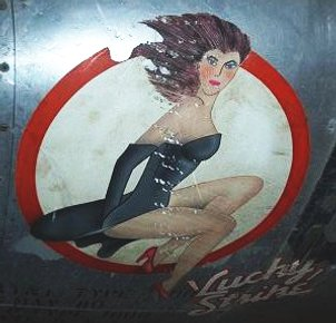 Lucky Strike T-33 nose art port side