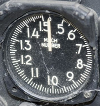T-33 Shooting Star Mach number indicator