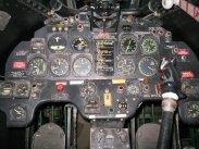 T-33A instrument panel, Mexican Air Force