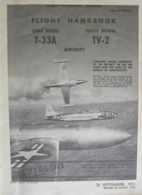T-33 and TV-2 flight manual cover page