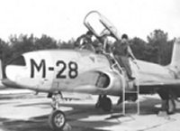 Dutch T-33 being serviced