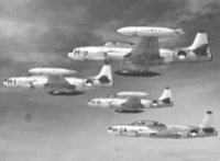 Formation of dutch T-33 aircraft